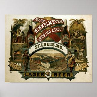 Poster Annonce vintage de bière de brassage de Jules