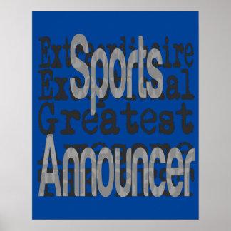 Poster Annonceur de sports Extraordinaire