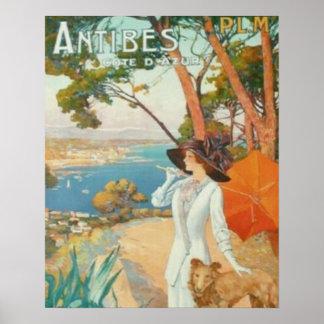 Poster Antibes la Côte d'Azur