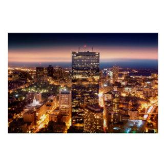 Poster Aperçu de Boston la nuit