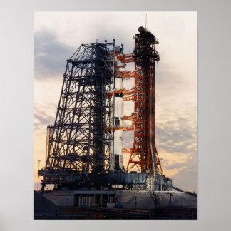 Poster Apollo 8 sur la plate-forme de lancement