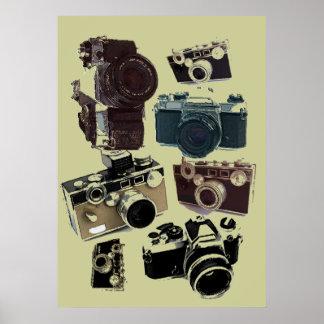 Poster Appareil-photo grunge de cru de photographie de