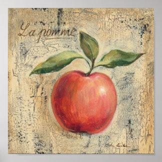 Poster Apple brillant rouge