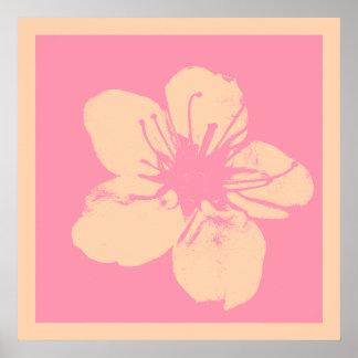 Poster Apple rose et crème fleurissent