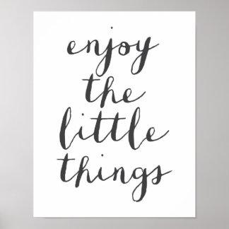 Poster Appréciez la petite affiche de choses
