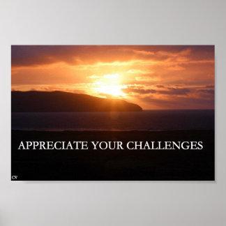 Poster Appréciez vos défis