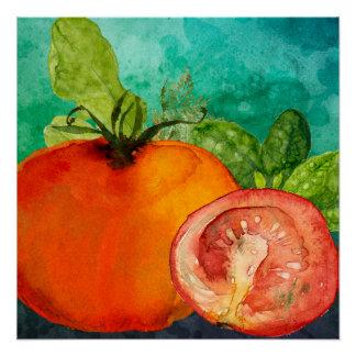 Poster Aquarelle de tomate par des ozias