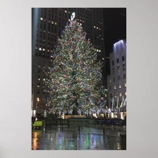 Poster Arbre central de Noël NYC Rockefeller de New York
