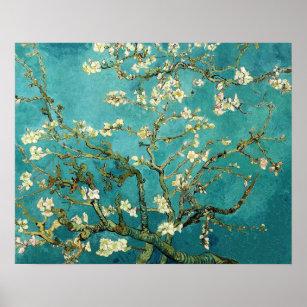 Poster Arbre d'amande de floraison Van Gogh floral