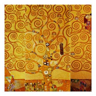 Poster Arbre de Gustav Klimt d'art Nouveau de la vie
