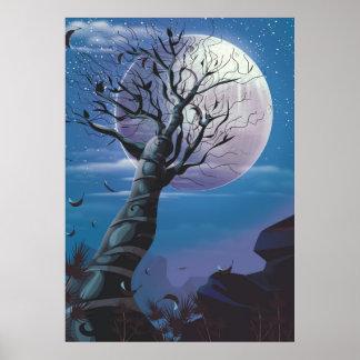 Poster Arbre de lune