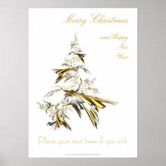 Poster Arbre de Noël sur le blanc 001