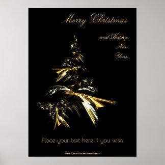 Poster Arbre de Noël sur le noir 001