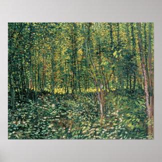 Poster Arbres de Vincent van Gogh | et broussaille, 1887