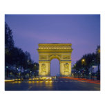 Poster Arc de Triomphe, Paris, France,
