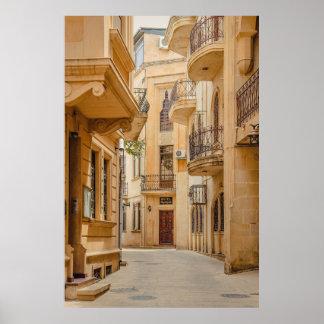 Poster Architecture arabe antique de l'Azerbaïdjan