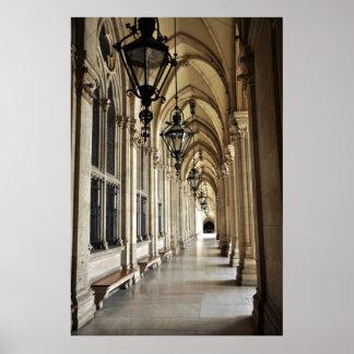 Poster Architecture d'hôtel de ville de Vienne