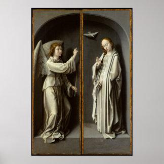 Poster Arkhangel Gabriel ; La Vierge Annunciate