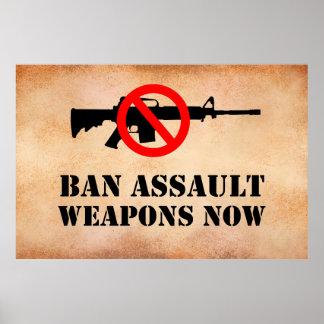 Poster Armes d'assaut d'interdiction
