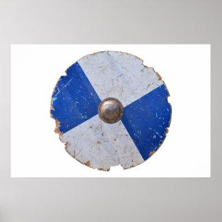 Poster armure en bois médiévale de chevalier d'arme de