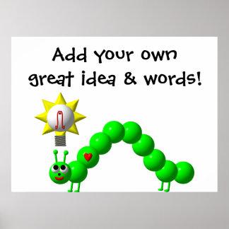 Poster Arpenteuse mignonne avec une idée !