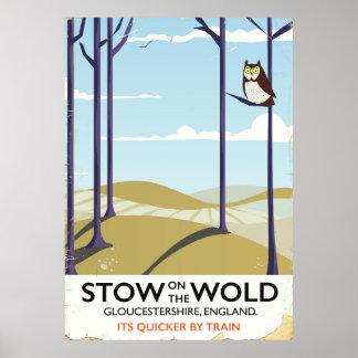 Poster Arrimage-sur-le-Haute plaine, Gloucestershire,