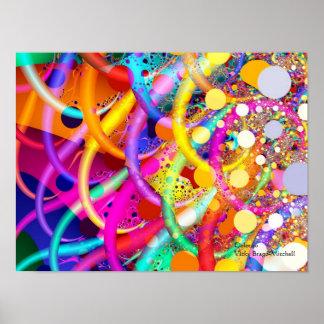 Poster Art abstrait de la couleur 10 de fractale
