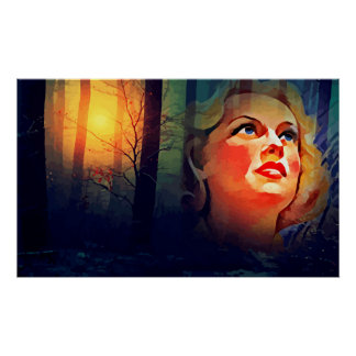 Poster Art abstrait de Madame Of The Forest