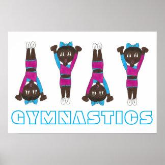 Poster Art croulant de fille de gymnaste de collant de