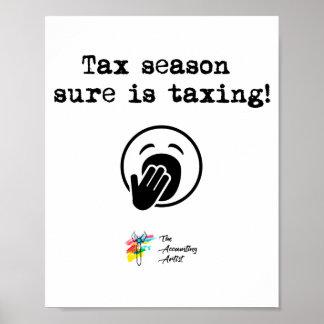 Poster Art d'affiche de saison d'impôts