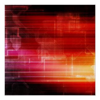 Poster Art d'arrière - plan de partie de techno de