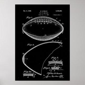 Poster Art de brevet du football, brevet de football