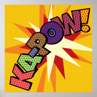 Poster Art de bruit de bande dessinée KA-POW !