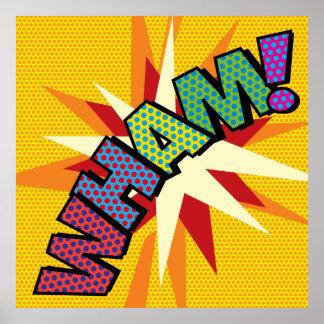 Poster Art de bruit de bande dessinée VLAN !
