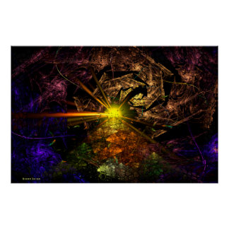 Poster Art de fractale de Machu Picchu 3D