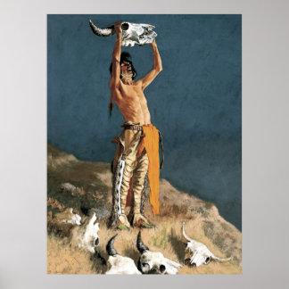 """Poster Art de Frederic Remington """"créant de retour"""