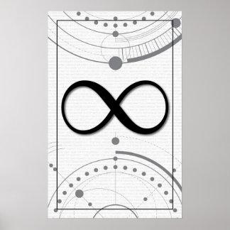 Poster Art de maths - infini