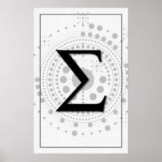 Poster Art de maths - sigma