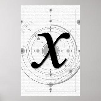 Poster Art de maths - X
