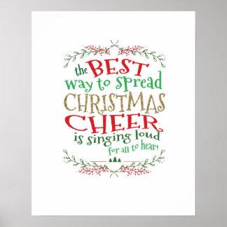 Poster Art de mur d'acclamation de Noël