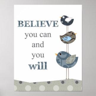 Poster Art de mur de citation pour des salles de crèche e