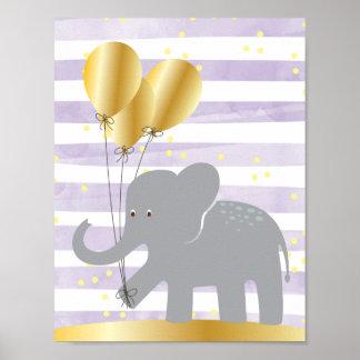 Poster Art de mur d'éléphant