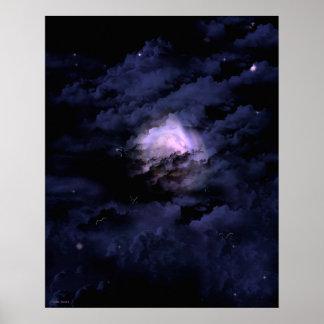Poster Art de paysage de Goth d'imaginaire de vol de