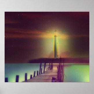 Poster Art de phare du Michigan