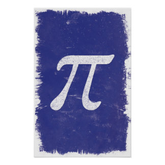 Poster Art de pi - affiches de maths
