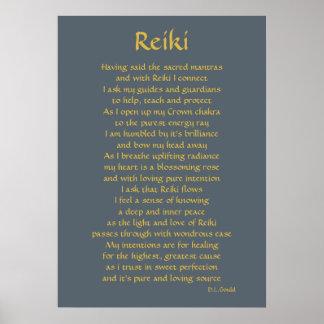 """Poster Art de poème """"de connexion de Reiki"""""""