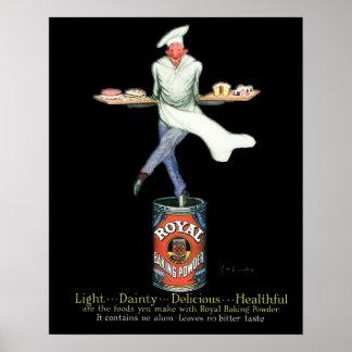 Poster Art de publicité vintage de Baker