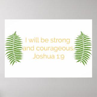 Poster Art de vers de bible, 1:9 de Joshua