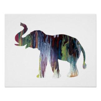 Poster Art d'éléphant