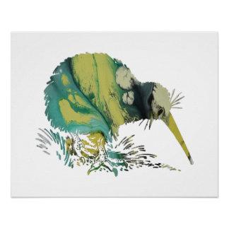 Poster Art d'oiseau de kiwi